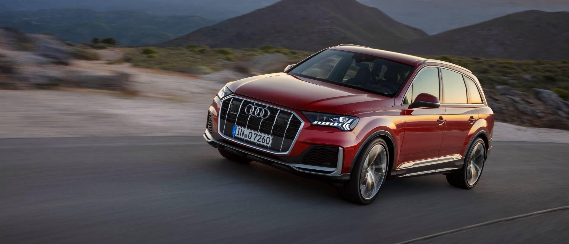 Nouvelle Audi Q7 2019 2020 rouge news actualité