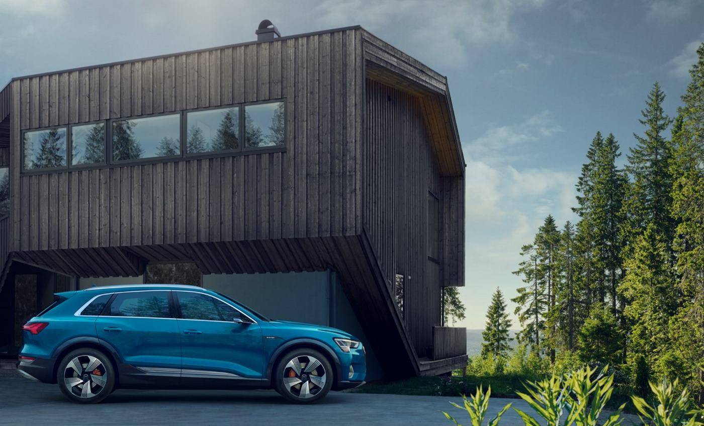 Audi e-tron maison footer