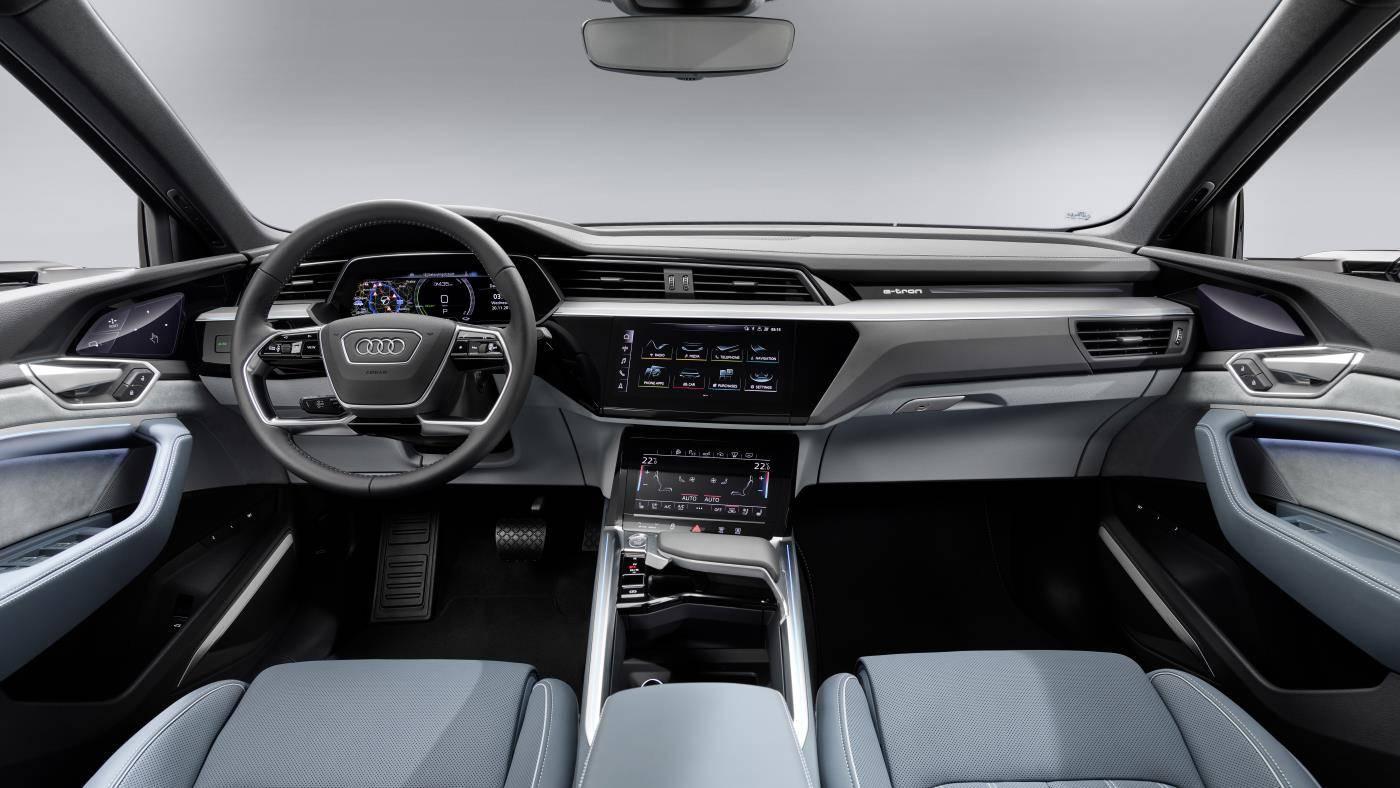 Nouvelle Audi e-tron Sportback intérieur cockpit