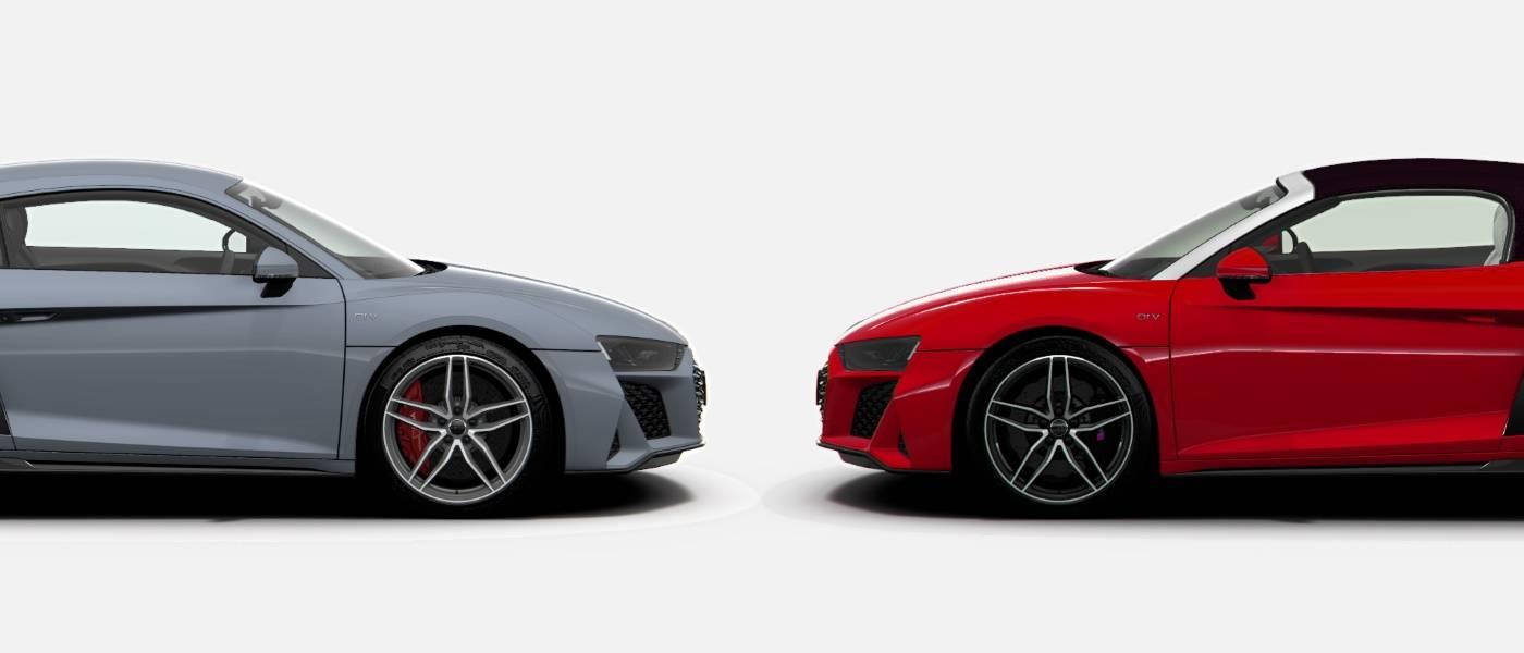 Audi R8 Coupé ou Audi R8 Spyder profil