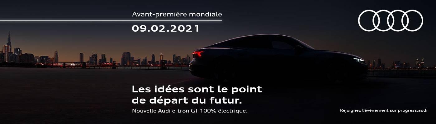 Audi e-tron GT lancement 2021