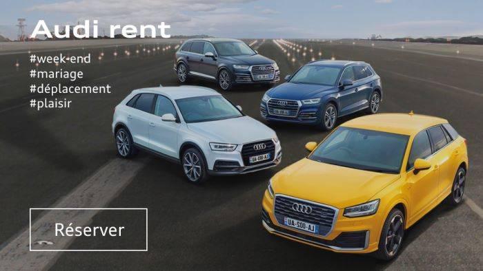 Audi rent location Audi voiture prix Paris Roissy
