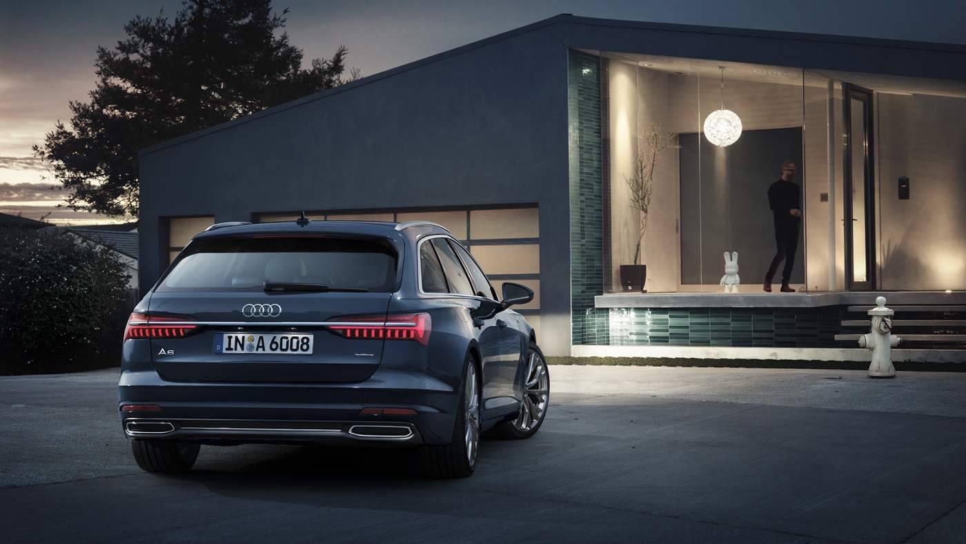 Nouvelle Audi A6 avant arriere