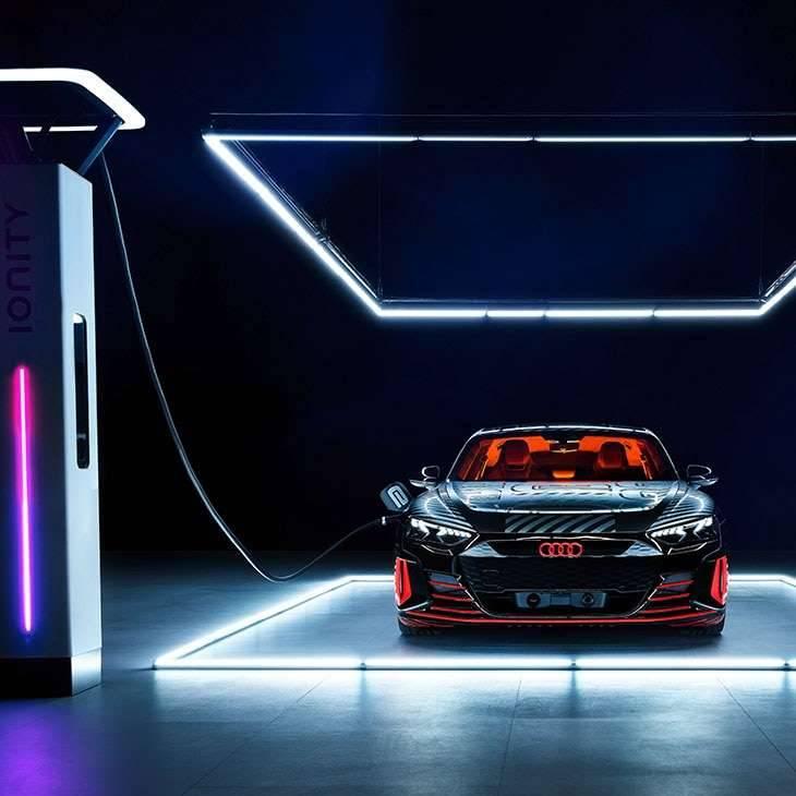 Audi e-tron GT Sportive 100% électrique recharge