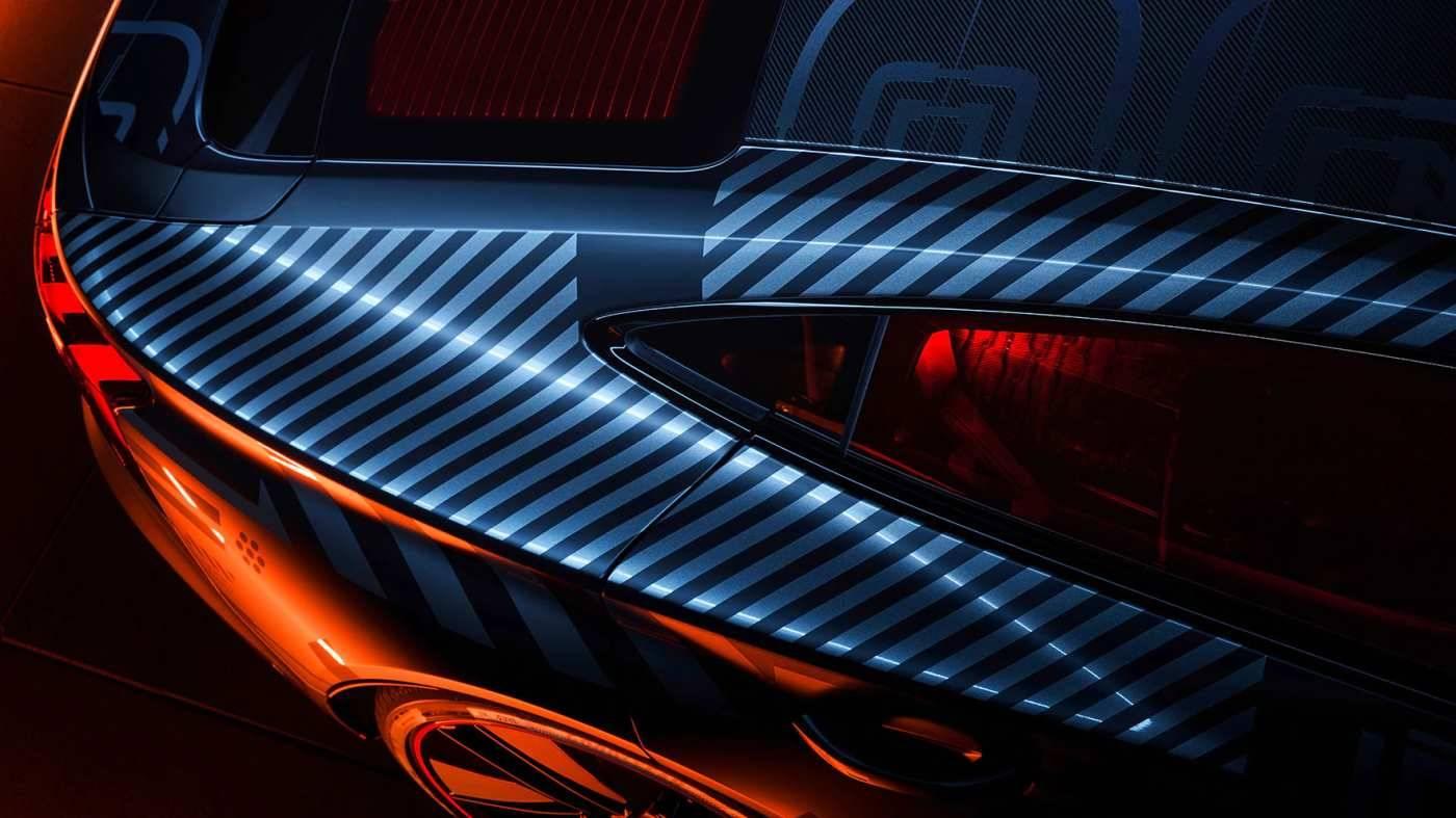 Audi e-tron GT Aile arrière dessus