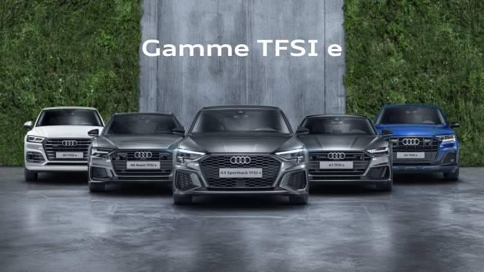 Audi hybride TFSI e : gamme complète