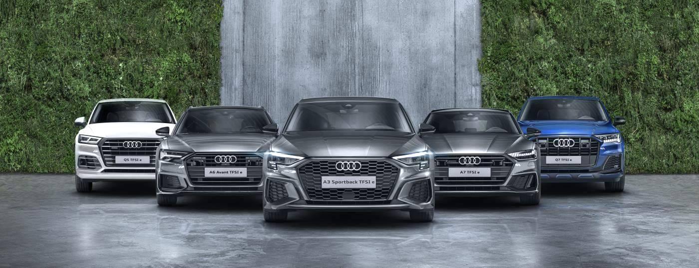 Audi hybride rechargeable TFSIe electrique essence