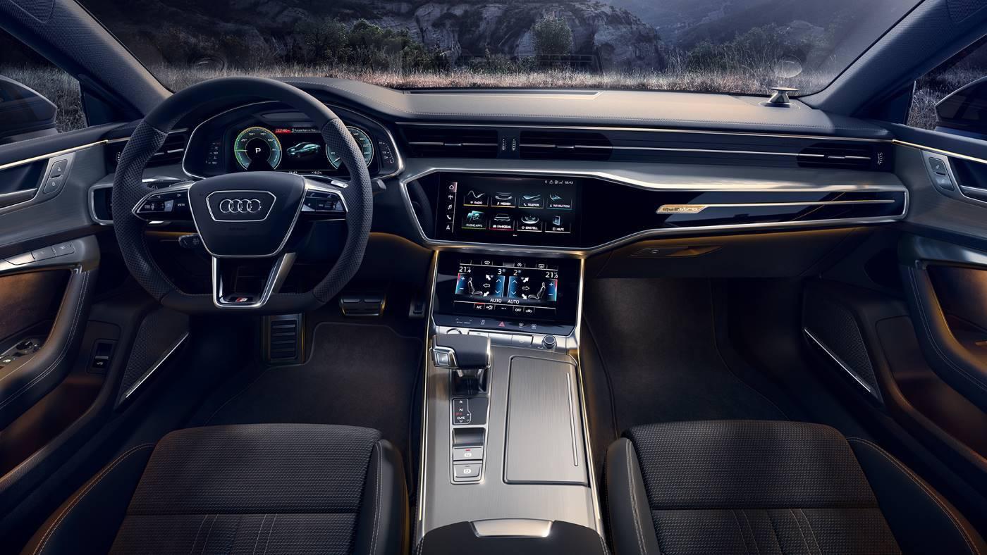Audi A7 sportback TFSIe hybride intérieur tableau