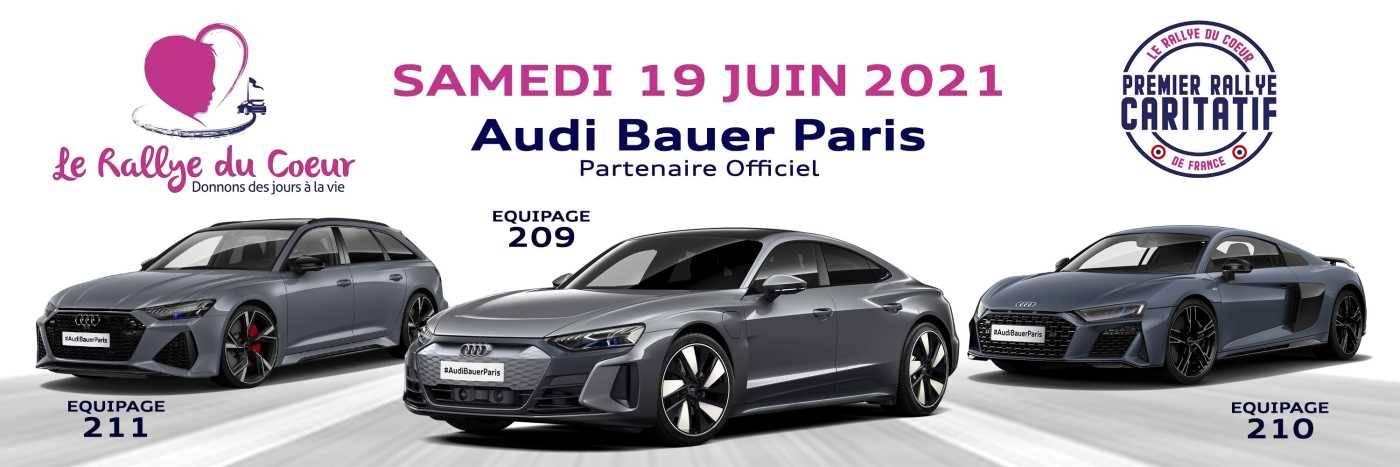 Le Rallye du Coeur 2021 avec Audi Bauer Paris