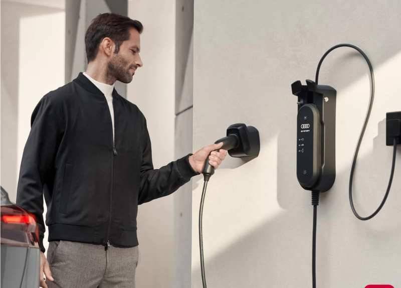 Audi chargeur domicile q4 e-tron électrique