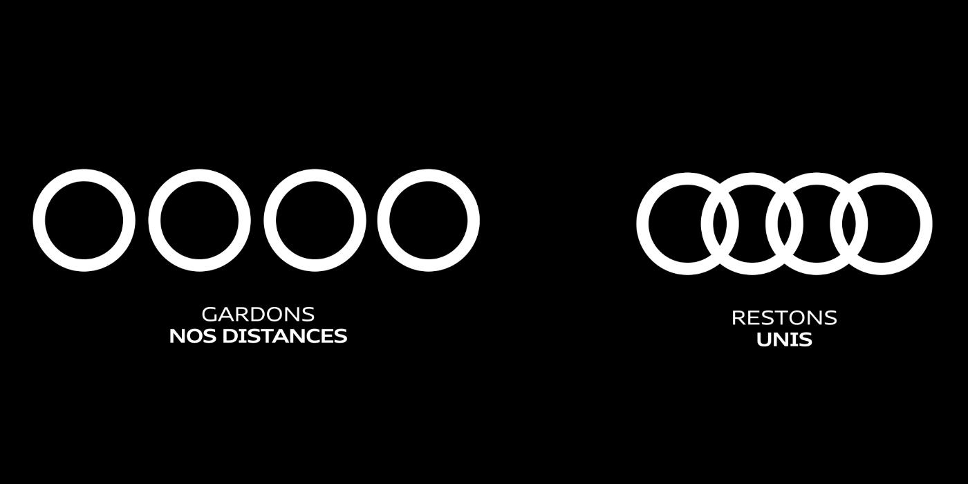 Audi mesures sanitaires gardons nos distances unis