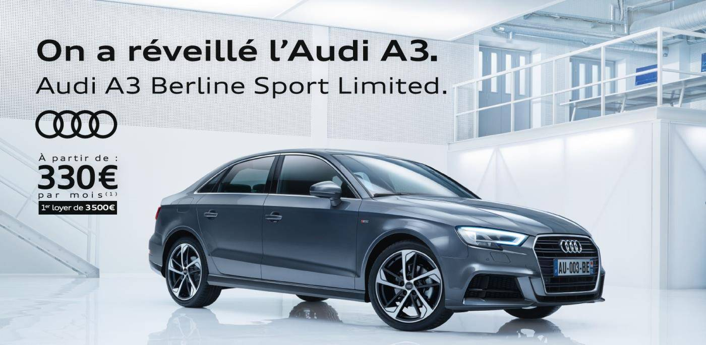 Offre Audi A3 Berline Sport Limited 330 financemen