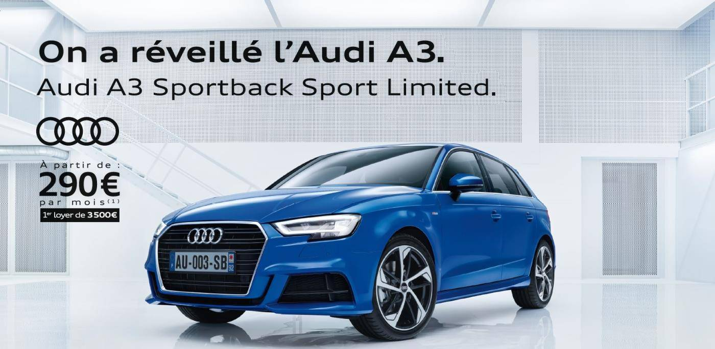 Offre Audi A3 Sportback Sport Limited 290 finance