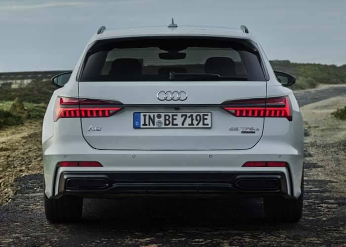 Audi A6 Avant hybride 2020 2021 arriere échappemen