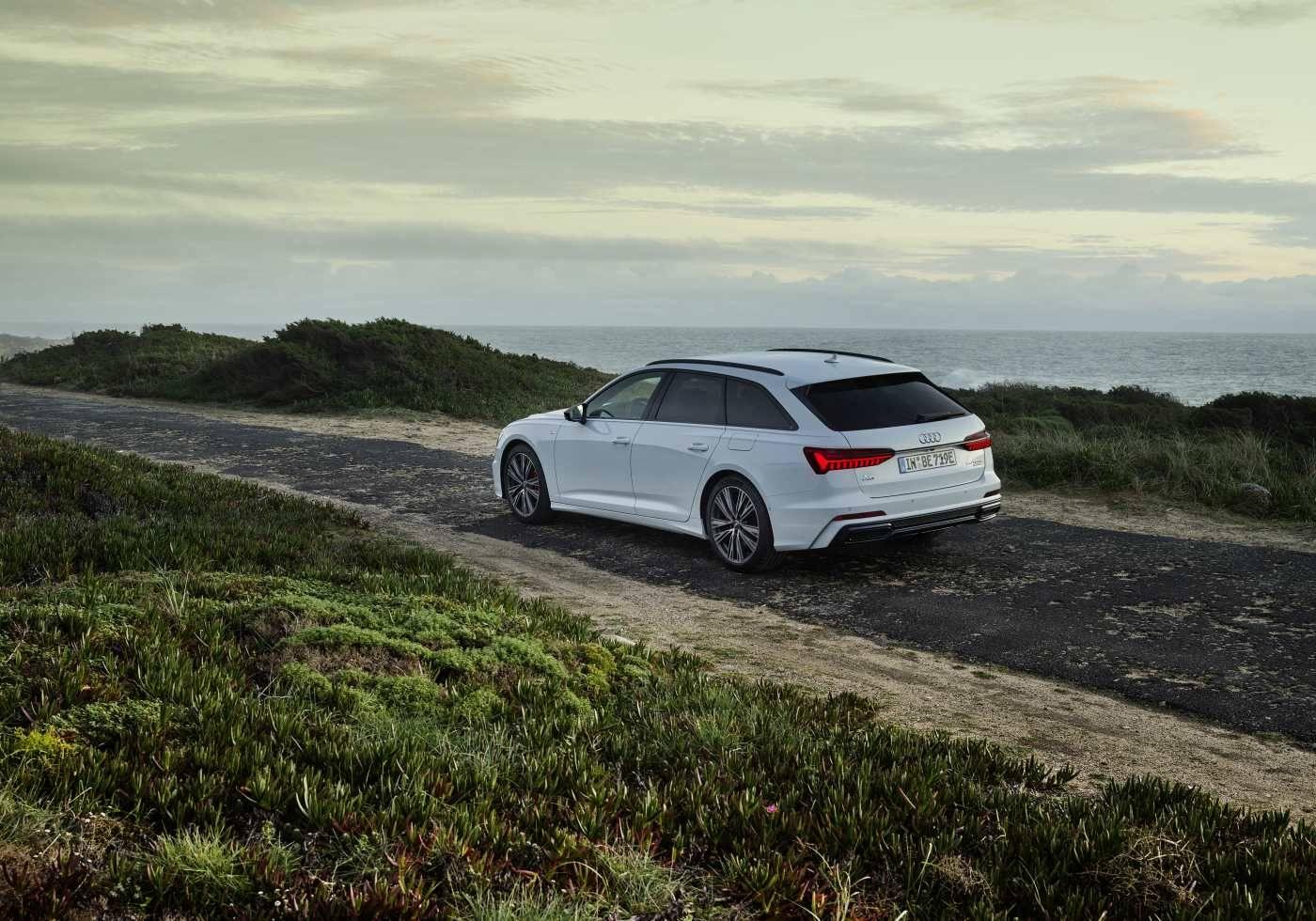 Audi A6 Avant hybride 2020 2021 arrière profil