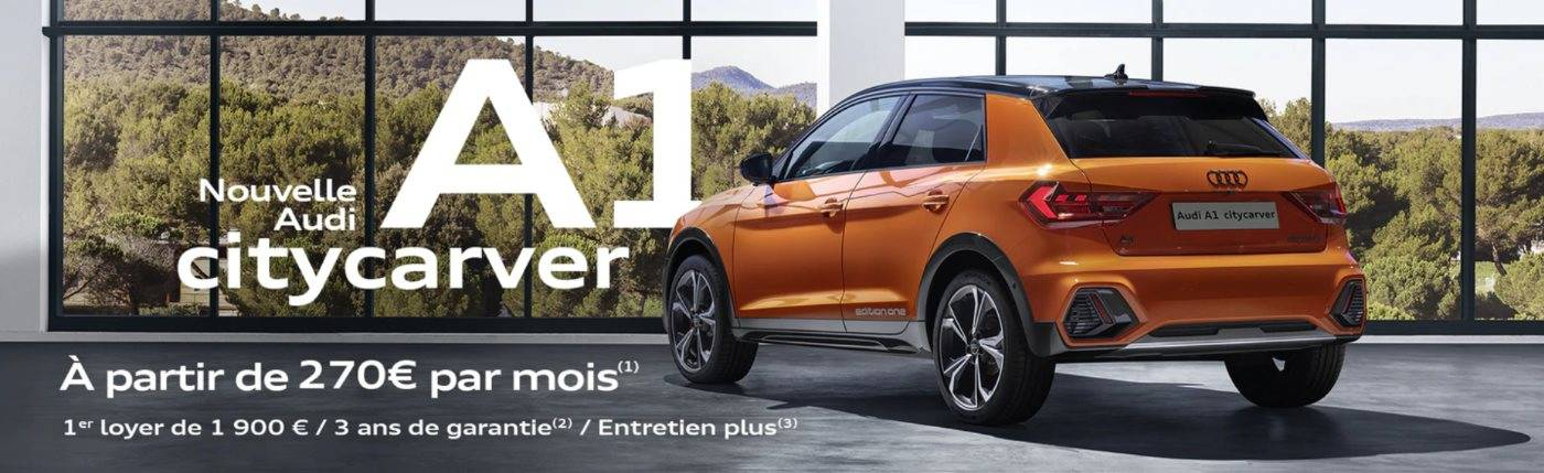Nouvelle Audi A1 citycarver offre financement 270