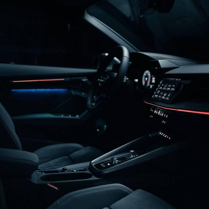 Nouvelle Audi A3 Sportback 2020 intérieur led coul