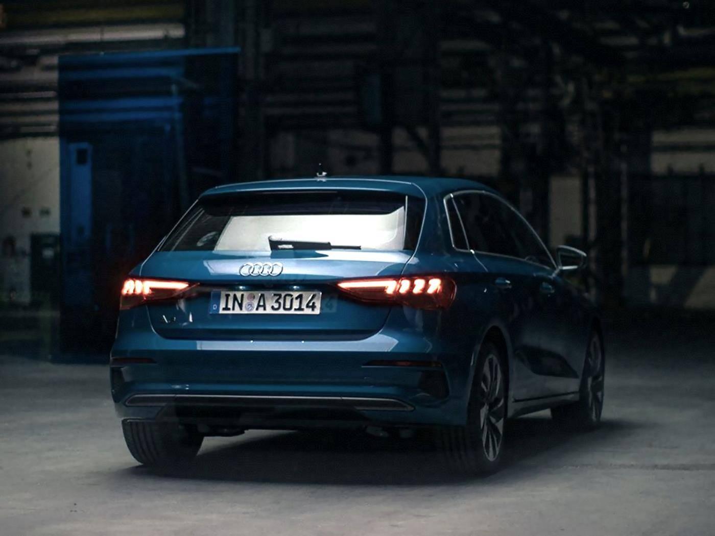 Nouvelle Audi A3 Sportback 2020 extérieur arrière