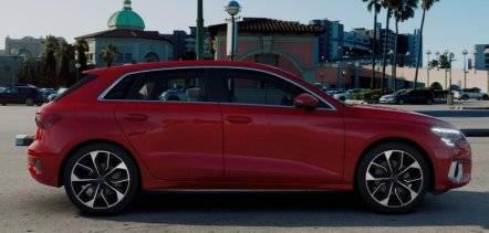 Nouvelle Audi A3 Sportback 2020 profil rouge