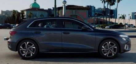 Nouvelle Audi A3 Sportback 2020 profil grise