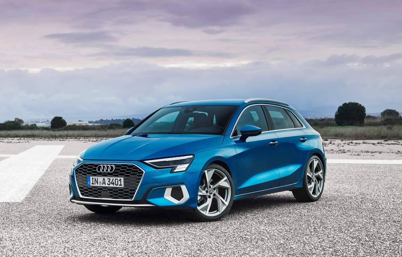 Nouvelle Audi A3 Sportback 2020 vue de face estéri