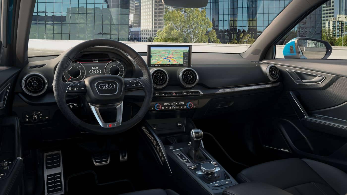 Intérieur Audi Q2 2021 sièges cockpit
