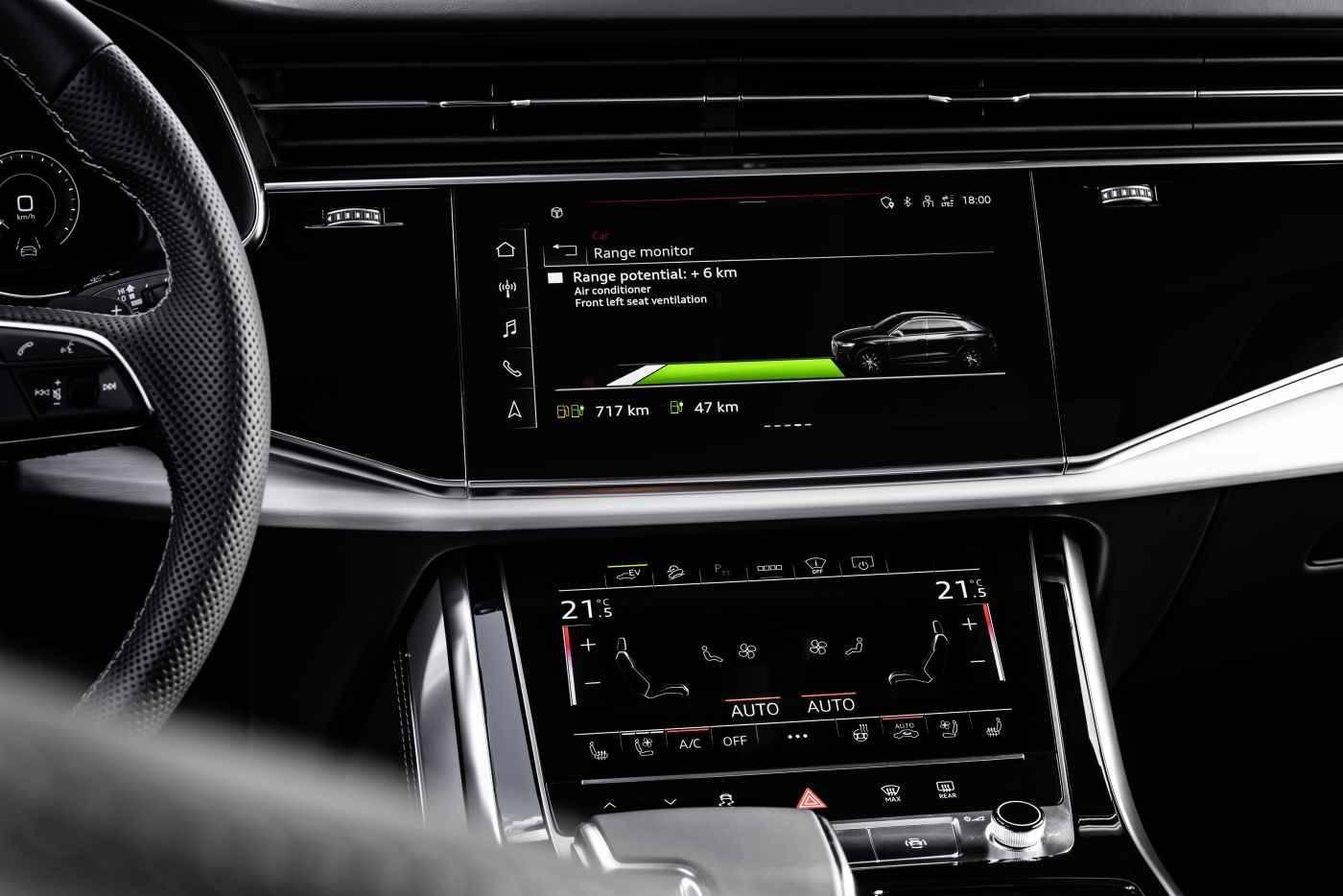 Audi Q8 TFSIe hybride écran mmi tactile