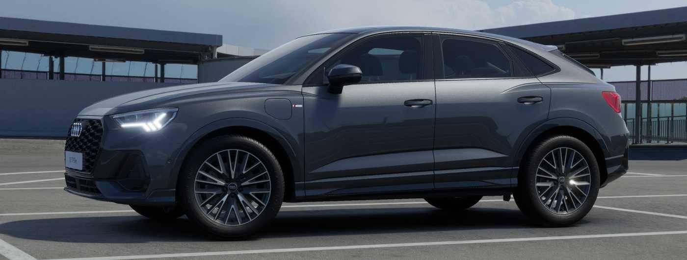 Audi Q3 Sportback TFSIe hybride profil côté