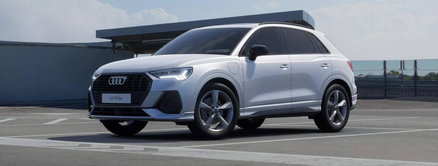 Nouvelle Audi Q3 TFSIe hybride profil coté