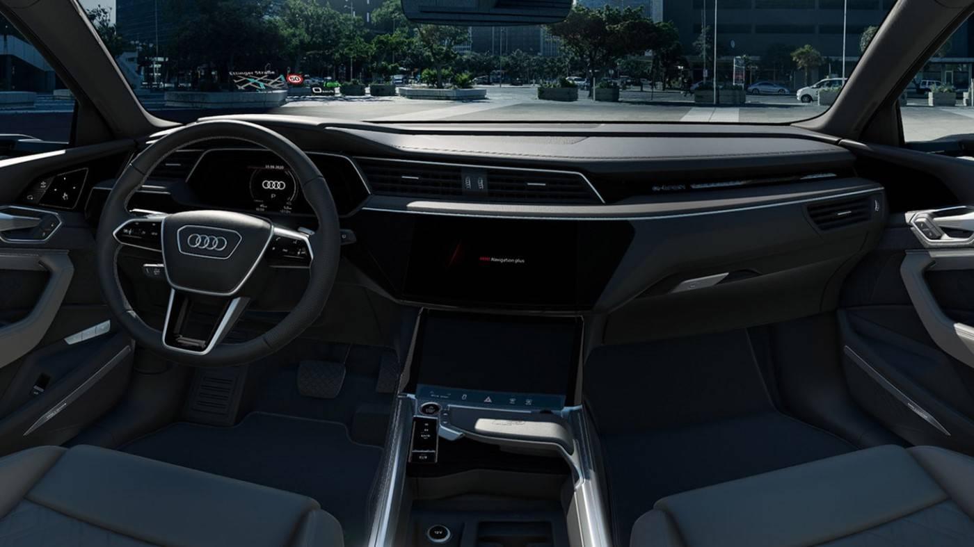 Nouvelle Audi etron S électrique intérieur bord