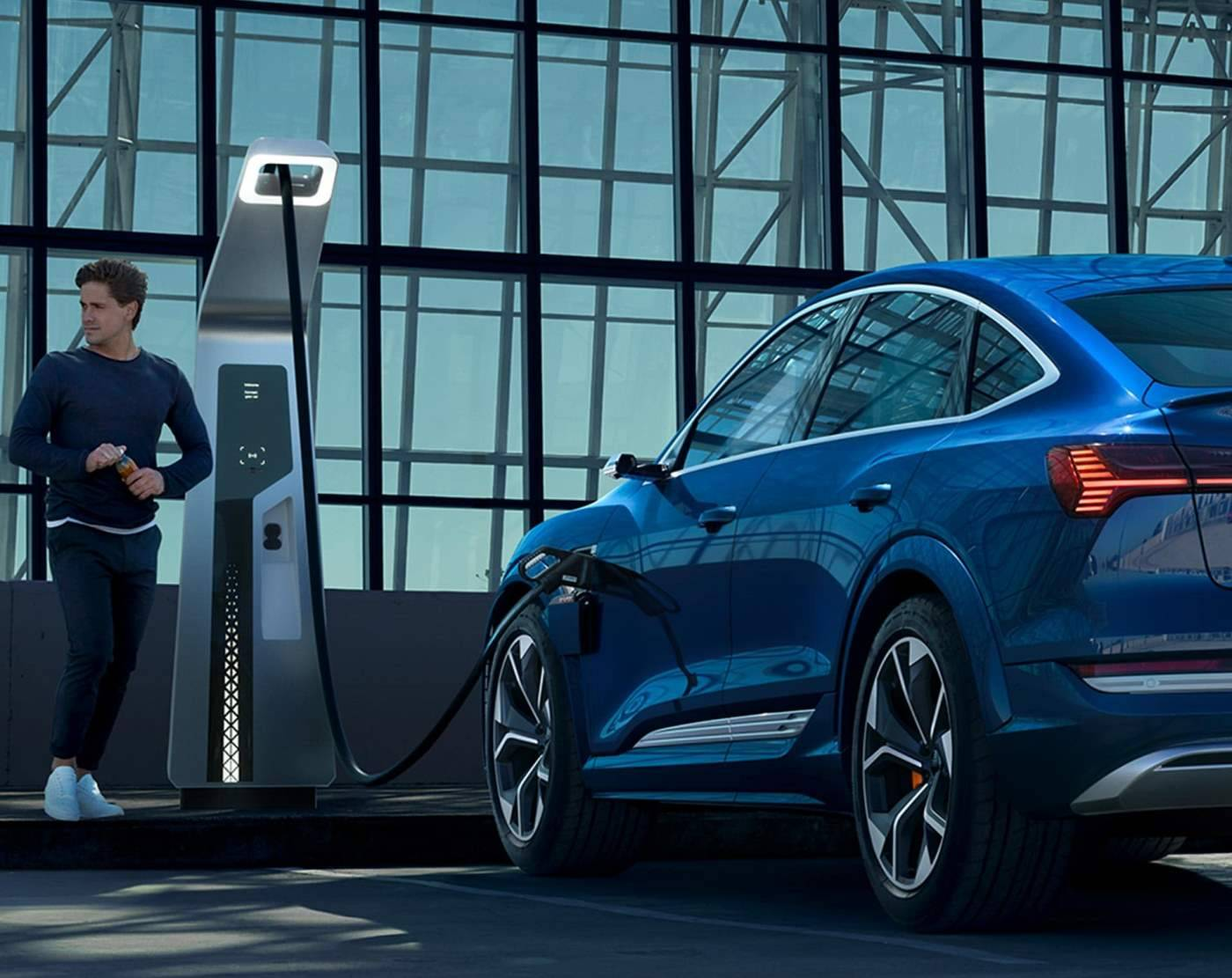 Audi e-tron S Sportback borne electrique charge
