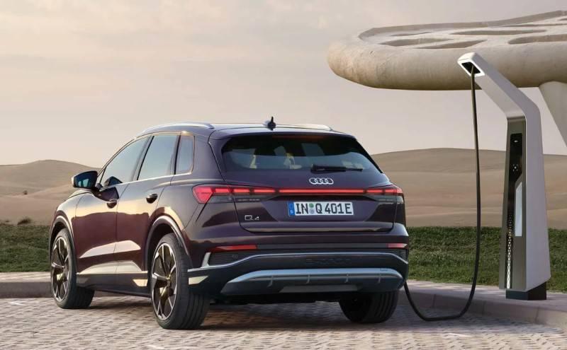 Recharge Audi electrique route trajet q4 e-tron