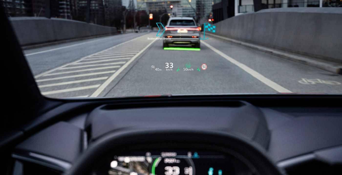Navigation Audi Q4 projection sur pare-brise