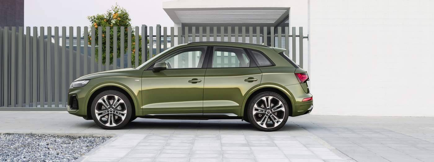 Nouvelle Audi Q5 vue profil vert