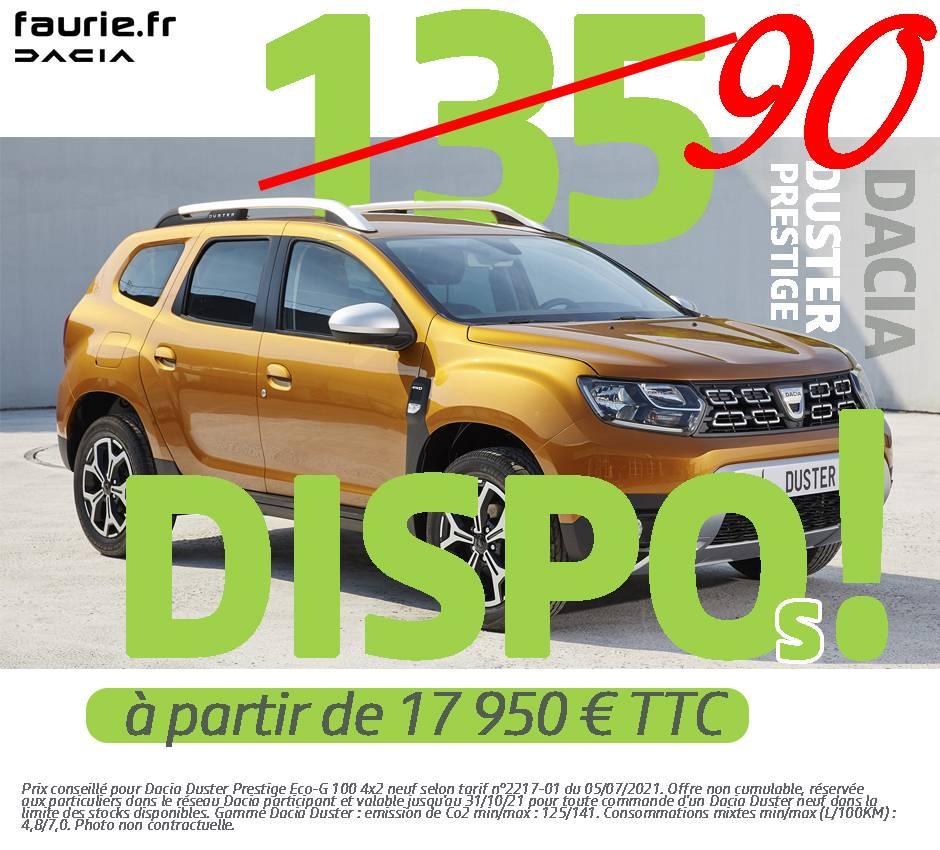Offres promotionnelle - Dacia Duster 90 DISPO
